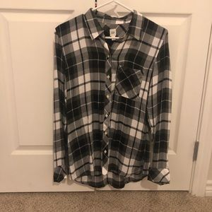 GAP black and white flannel shirt.